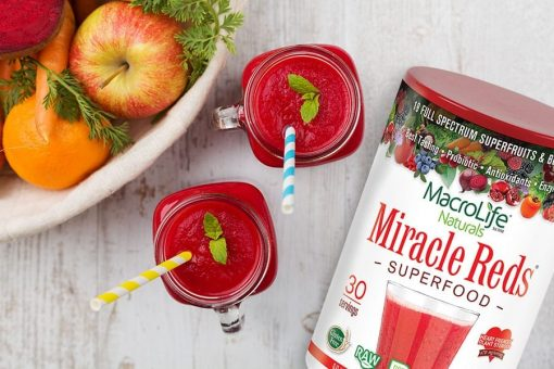 MacroLife Naturals Miracle Reds in Holiday Smoothies