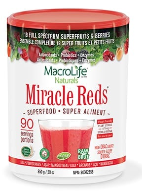Miracle Reds 90 Servings container