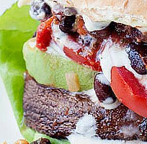 Santa Fe Style Portobello Burgers