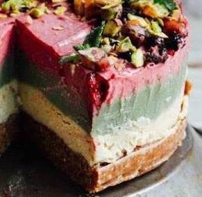 Layered Superfood Cheesecake