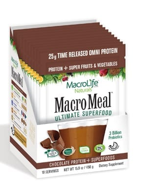MacroMeal Omni Chocolate Packets