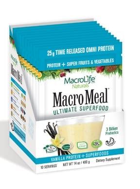 MacroMeal Omni Vanilla Packets