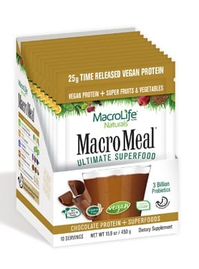 MacroMeal Vegan Chocolate Packets