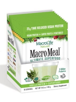 MacroMeal Vegan Vanilla Packets