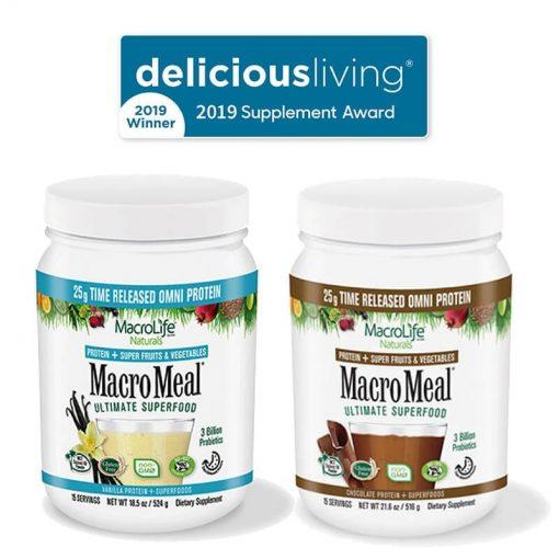 2019 Delicious Living Award to MacroLife MacroMeals