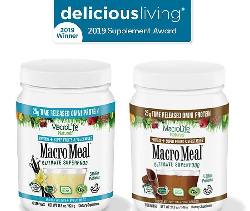 2019 Delicious Living Award to MacroLife MacroMeals